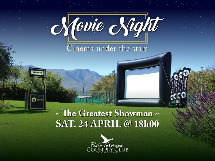 Outdoor cinema at Elgin Grabouw Country Club